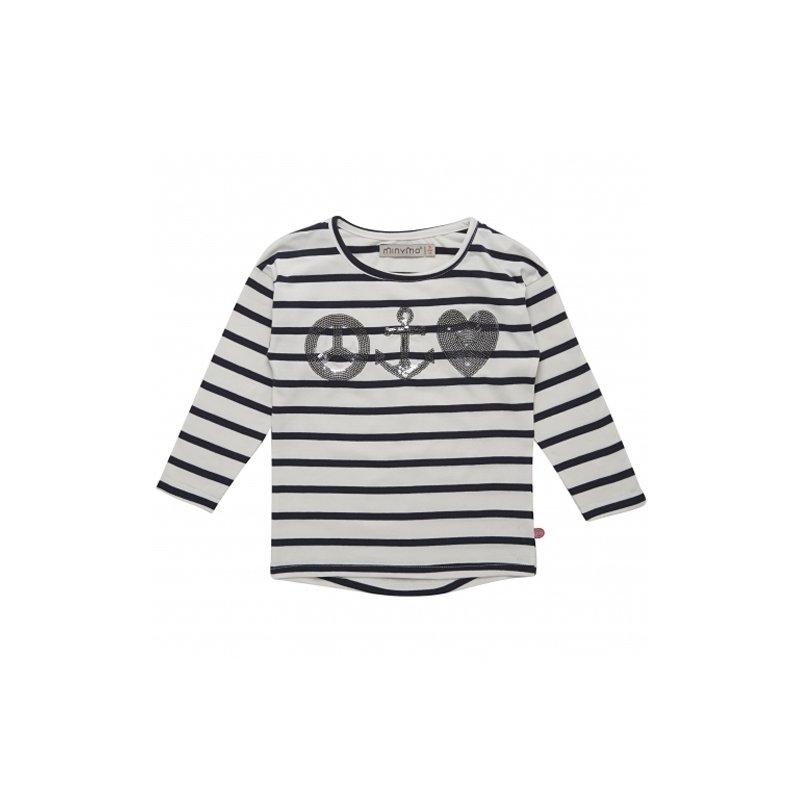 71345ca7 MiNyMo T-Shirt Langærmet - Fiona Hvid Billigt online | Just4kids.dk